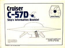 Forbidden Planet Cruiser C-57D Blueprint Set-5 Sheets-Interior/Exterior-FREE S&H