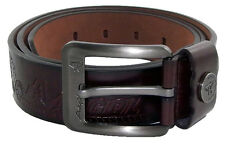 "Men's Gents Waist Belt  Artificial Leather Size: 32""TO 42"" & 1.4"" ELS AK BRN 28"