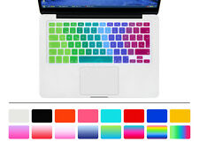 Spanish Rainbow Silicone EU Keyboard Cover Skin For Macbook Pro Air Retina 13 15