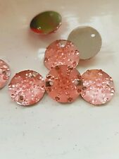 Pink 16mm Sew On Stitch Bead JEWEL GEM CRYSTAL RHINESTONE Bead DANCE