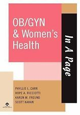 In A Page OB/GYN & Women's Health (In a Page Series), Kahan, Scott, Freund, Kare