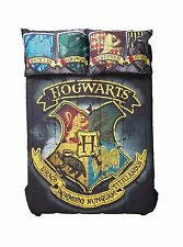 Harry Potter Hogwarts Full/Queen Comforter Houses Crest Gryffindor Slytherin New