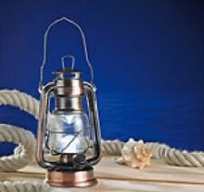 "DIMMBARE LED STURMLAMPE ""OCEAN"" IN BRONZE - WARMWEISS - NEU & SOFORT"