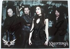 KRYPTERIA   ___  Autogramm 10 cm x 15 cm   ___   original signiert !