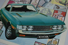 True Vintage Printed in Japan 1971 Toyota CELICA ST Dealer Sales Brochure