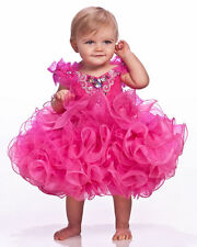 Infant little kids children girls mini party pageant dresses ball gowns cupcakes