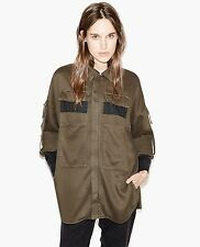 NEW THE KOOPLES OVERSIZED JACKET IN FLUID DENIM DESTROYED FINISHES XS -Fit S Too