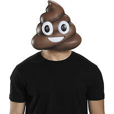 Poop Ice Cream Face Grin Emoticon Adult Mask Emoji 1 lot of 4 masks