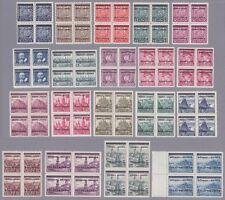 Böhmen und Mähren Mi.Nr. 1-19 postfrischer Viererblocksatz