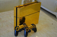 Skin Sticker For PS4 Playstation4 Console &Controller Electroplating Decal Gold