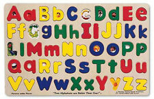 UPPER & LOWER CASE ALPHABET PUZZLE #47~,Wooden,educational,Melissa and & Doug