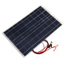 18V 30W Smart Solar Panel Car RV Boat Battery Charger Universal W/Alligator Clip