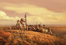 "100"" x 145"" Indians leader Warriors Horse Wall Murals Wallpaper Stickers WM5032"
