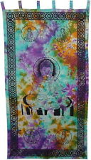 Buddha Tie Dye Curtain Tapestry Wall Hanging Door Window Hippie Boho Bohemian