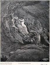 INFERNO: LUSSURIOSI: PAOLO E FRANCESCA.3.Gustave Doré.Dante.Divina Commedia.1880