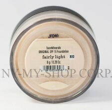 BARE MINERALS ESCENTUALS SPF 15 Foundation - Fairly Light N10 - 8G-XL  FREE Ship