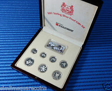 2001 Singapore Sterling Silver Proof Coin Set (1¢ - $5 Coin)