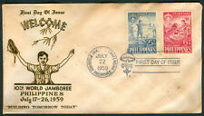 1959 Philippines 10th World Jamboree First Day Cover F