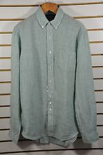 "Men's Ralph Lauren, Custom-Fit, Striped Linen Pocket Shirt. Sz.M. Armpit 22""."
