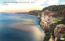 Vintage postcard, Horse Shoe Bend, Lake of the Ozarks, MO, ca. 1953 (BL 27)