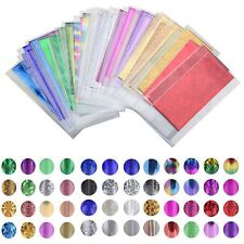 1 Pack Foils Finger DIY Nail Art Sticker Decal Water Transfer Tips 3D DIY Decor