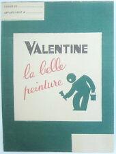 Protège cahier papier Peinture Valentine couleurs neuf