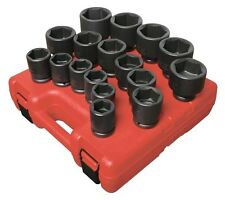 SUNEX #4683: 3/4 Drive 17pc SAE Impact Socket Set.