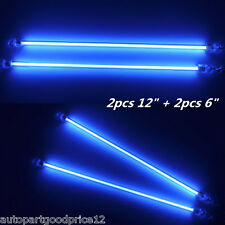 "2x6""+2x12"" Blue LED Car Undercar Underbody Neon Light CCFL Cold Cathode Tube Kit"