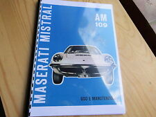 Owners Manual MASERATI MISTRAL AM 109 Betriebsanleitung Uso Manutenzione