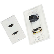HDMI VGA Wall Face Plate Panel Outlet Composite Audio Video HDTV 1080p US/EU