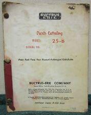 Bucyrus-Erie Model 25-B Parts Catalog