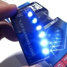 Auto Solar Charger LED Car Burglar Alarm Warning Blue Light Sensor Security