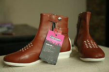 ICON Sacred Low Riding Motorcycle Boots Women's Brown US 8 Euro 38.5