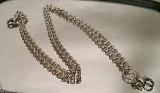 """24"""" 316L Stainless Steel 3mm Rolo Chain Necklace for Memory Glass Lockets"""
