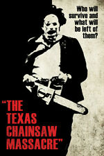 Texas Chainsaw Massacre- Leatherface Silhouette Poster Print, 24x36