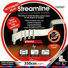 "3.5 mtr (137 "") Flessibile Straight & BAY WINDOW avvolta Curtain TRACK RAIL"