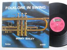 LP Benny Bailey - Folklore In Swing - VG++ . SABA 15071 ST