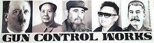 """***GUN CONTROL WORKS*** """"Pro- Gun Anti-Obama Bumper Sticker""""  L"""