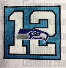 Seattle seahawks 12 men embroidered patch sew on