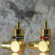 Vampire Wire #90A Right angle RCA adapter / 1 set