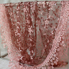 13Colors Women Rose Embroidery Lace Triangle Pendant Flower Scarf Tassel Scaves