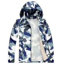 New Fashion Men's Camo Casual Hooded Camouflage Light Thin Sports shirt jackets