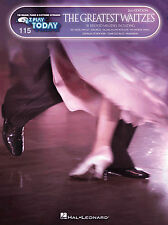 E-Z Play Today 115 - THE GREATEST WALTZES - Easy Keyboard Sheet Music Book EZ