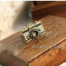 2Pcs Women's Copper Adjustable Rings Vintage Camera Design Jewelry Gift