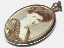 Antique Edwardian 1909 9k 9ct Gold Double Sided Photo Locket Pendant