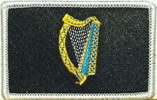 IRISH Flag Tactical Patch With VELCRO® Brand Black, Blue & Gold Version #4
