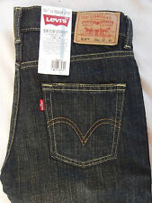 "NEW LEVIS 514 Slim Straight leg Distressed Blue Jeans KIds Boys 14 reg  27""x 27"""