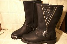 Women's  Boots Harley Davidson Black Leather Riding Tanya 7 M