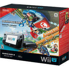 Nintendo Wii U 32GB Console with Mario Kart 8 Pre-installed Deluxe Set NEW