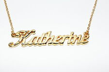 KATHERINE 18ct Gold Plating Necklace With Name - Nekless Birthday Name Chain